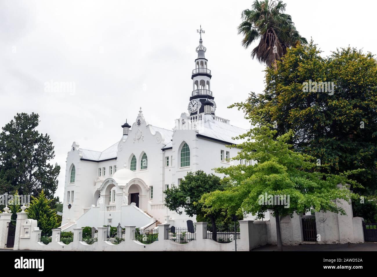 Dutch Reformed Church, Swellendam, Western Cape, South Africa Stock Photo
