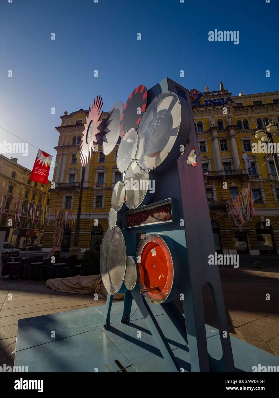 EPK2020 counter in Rijeka Croatia Europe Stock Photo