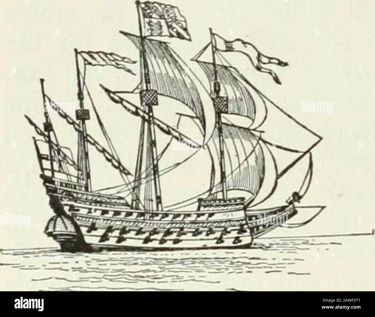 Ontario High School History of England . times as numerous as those of the royal navy, would takepart in the fight when the time came. No doubt the Englishships were smaller than the ships of Spain. These, withtheir high castles in bow and stern, and their broad bows,looked formidable. The English, however, had the advantageof more powerful cannon with which they could batter the 232 HISTORY OF ENGLAND great Spanish ships, while keeping out of range them-selves. Their ships were also swifter, and they could beatbetter to windward, and turn more readily than their foes. English sailors too were Stock Photo