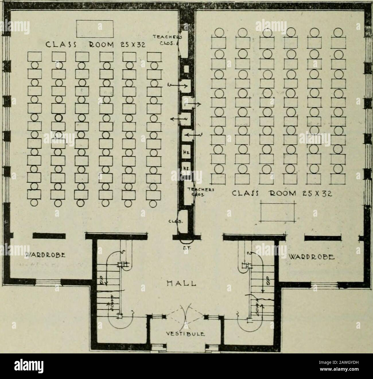 Appendix To The Journals Of The Senate And Assembly Of The Session Of The Legislature Of The State Of California A Four I Oom Building Hj First Floor Plan Four Room School 41