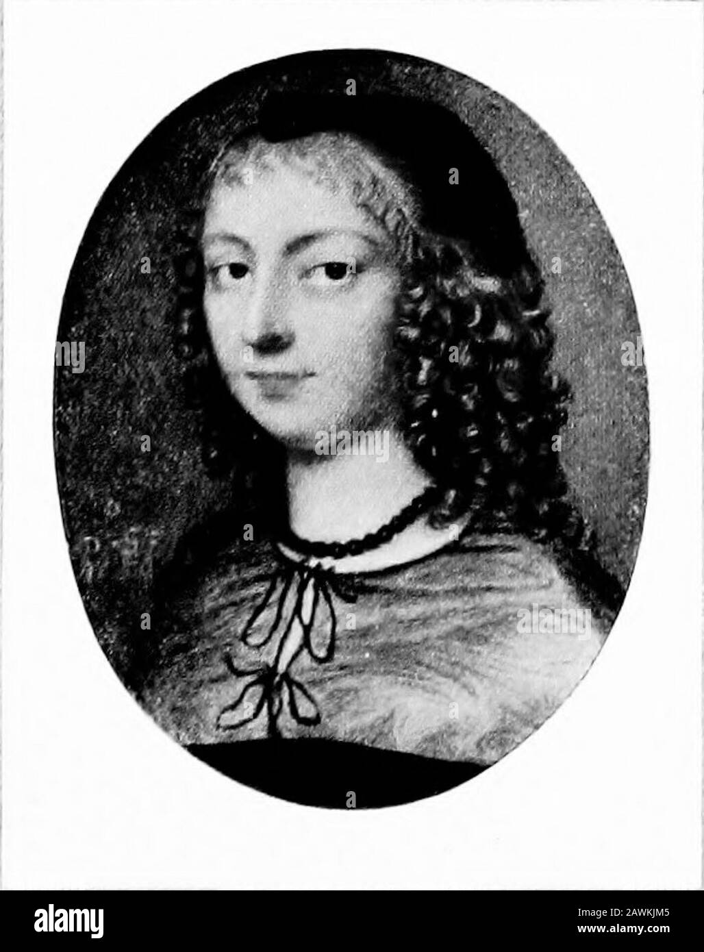 Portrait miniatures; . MISS CHRISTIAN TEMPLEBY OR AFTER SAMUEL COOPER FROM THE COLLECTION OF THE RT. HON. SIR CHARLES DILKE, BART., M.P,. RACHEL FANE, COUNTESS OF BATH AND LATER OF MIDDLESEX (161 2-1680) BY DAVID DES GRANGES FROM THE COLLECTION OF MR. E. M. HODGKIN3 Stock Photo