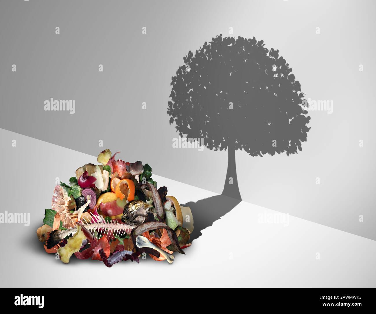 Compost Recycling And And Composted Soil Cycle As A Composting Pile Of Rotting Kitchen Scraps With Fruits And Vegetable Garbage Waste Stock Photo Alamy
