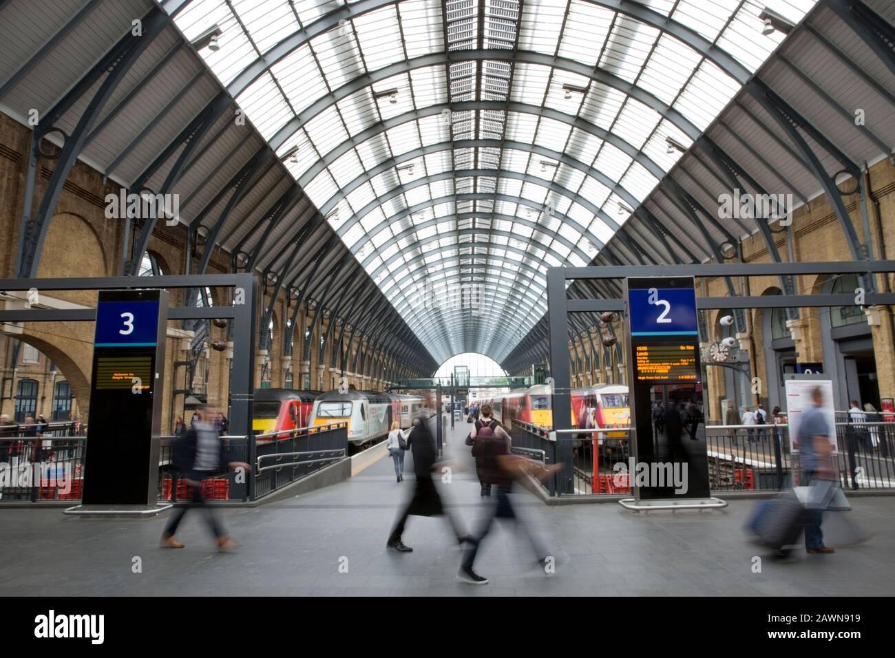Kings Cross railway station, London, England Stock Photo