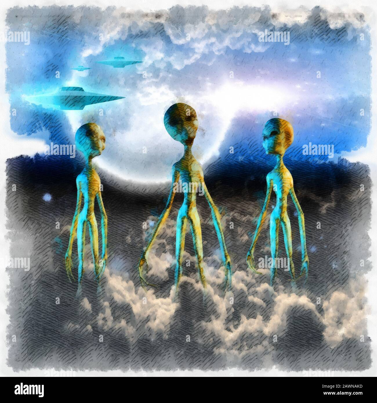Ufo Painting High Resolution Stock Photography And Images Alamy