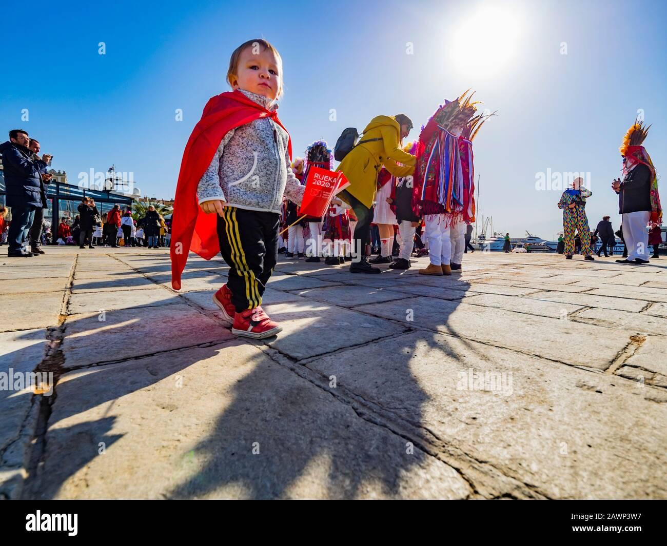 Childrens carnival in Rijeka Croatia Europe Stock Photo