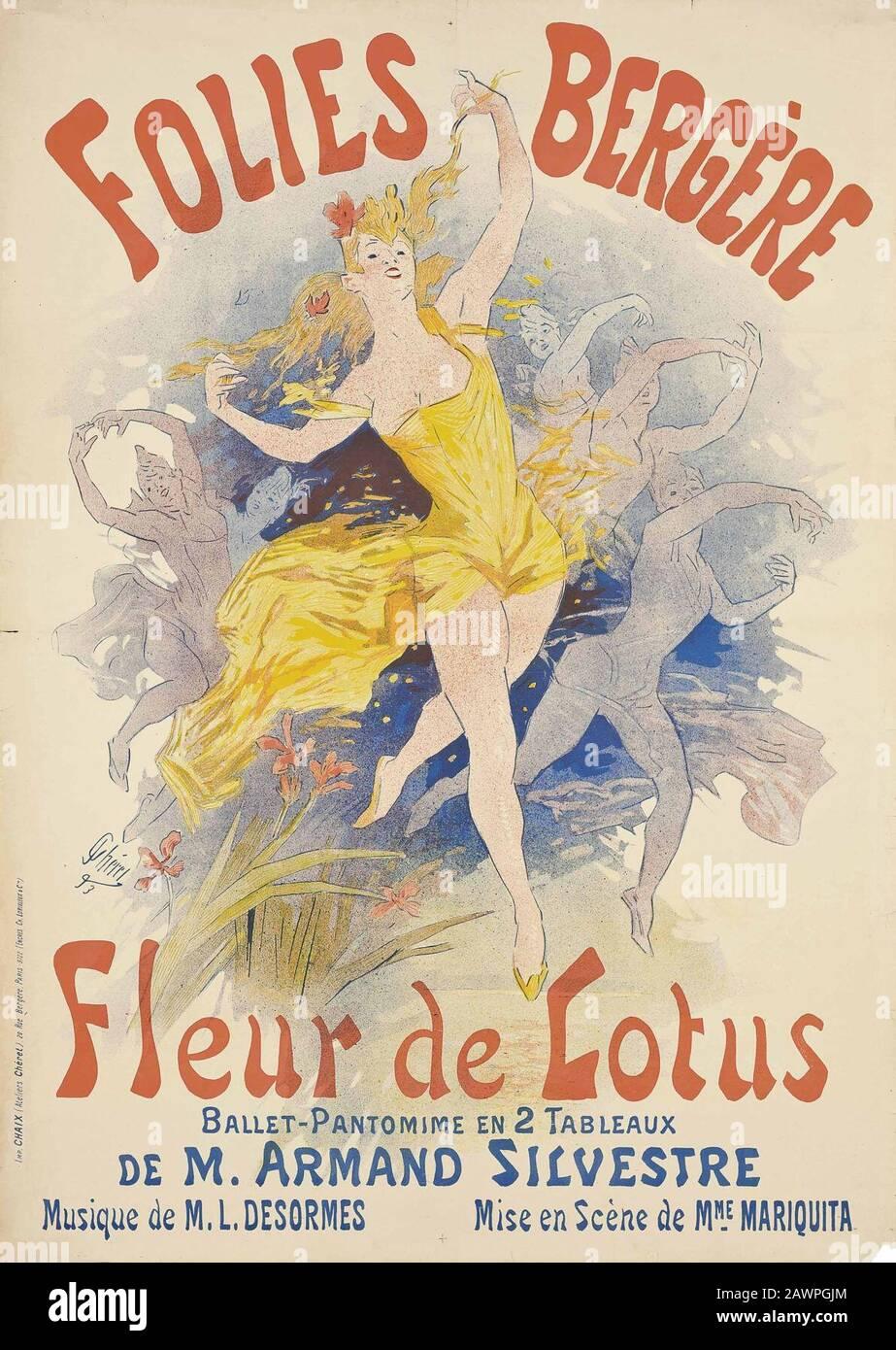 Fleur De Lotus Dijon jules chéret stock photos & jules chéret stock images - page