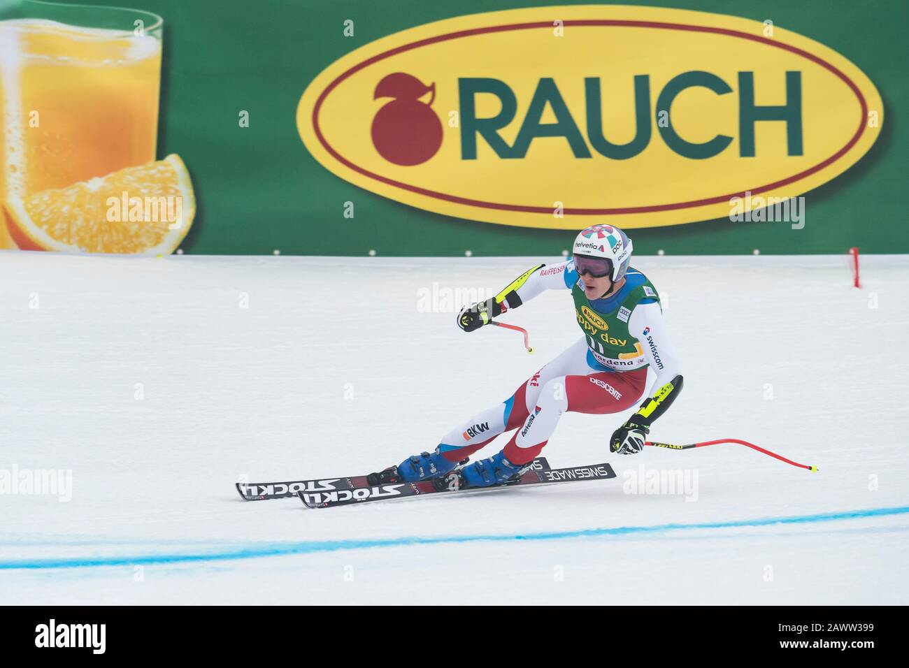 Val Gardena, Italy 20 December 2019. ODERMATT Marco (Sui) competing in the Audi Fis Alpine Skiing World Cup Men's Super-G Race  on the Saslong Course Stock Photo