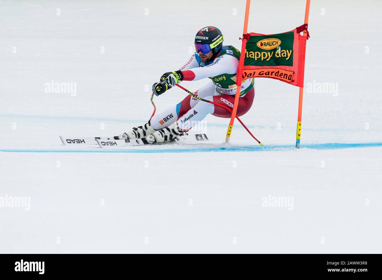 Val Gardena, Italy 20 December 2019. Feuz Beat (Sui) competing in the Audi Fis Alpine Skiing World Cup Men's Super-G Race  on the Saslong Course in th Stock Photo