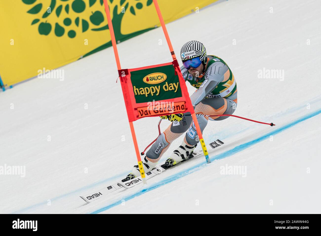 Val Gardena, Italy 20 December 2019. Jansrud Kjetil (Nor) competing in the Audi Fis Alpine Skiing World Cup Men's Super-G Race  on the Saslong Course Stock Photo