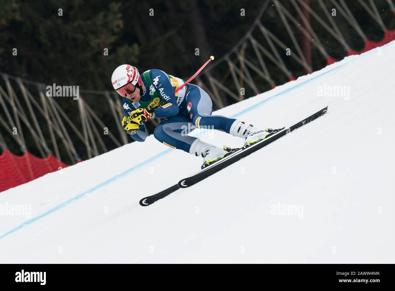 Val Gardena, Italy 20 December 2019. Casse Mattia (Ita) competing in the Audi Fis Alpine Skiing World Cup Men's Super-G Race  on the Saslong Course in Stock Photo