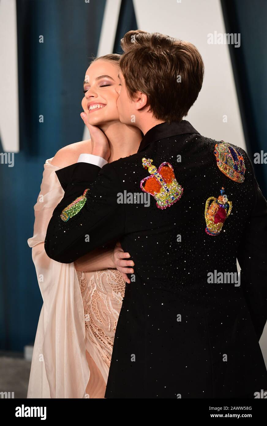 Barbara Palvin And Dylan Sprouse Attending The Vanity Fair Oscar Party Held At The Wallis Annenberg Center For The Performing Arts In Beverly Hills Los Angeles California Usa Stock Photo Alamy