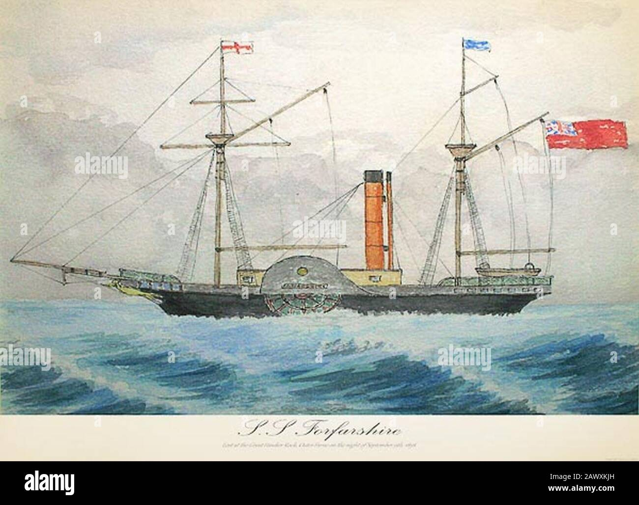 SS Forfarshire c1835. Stock Photo