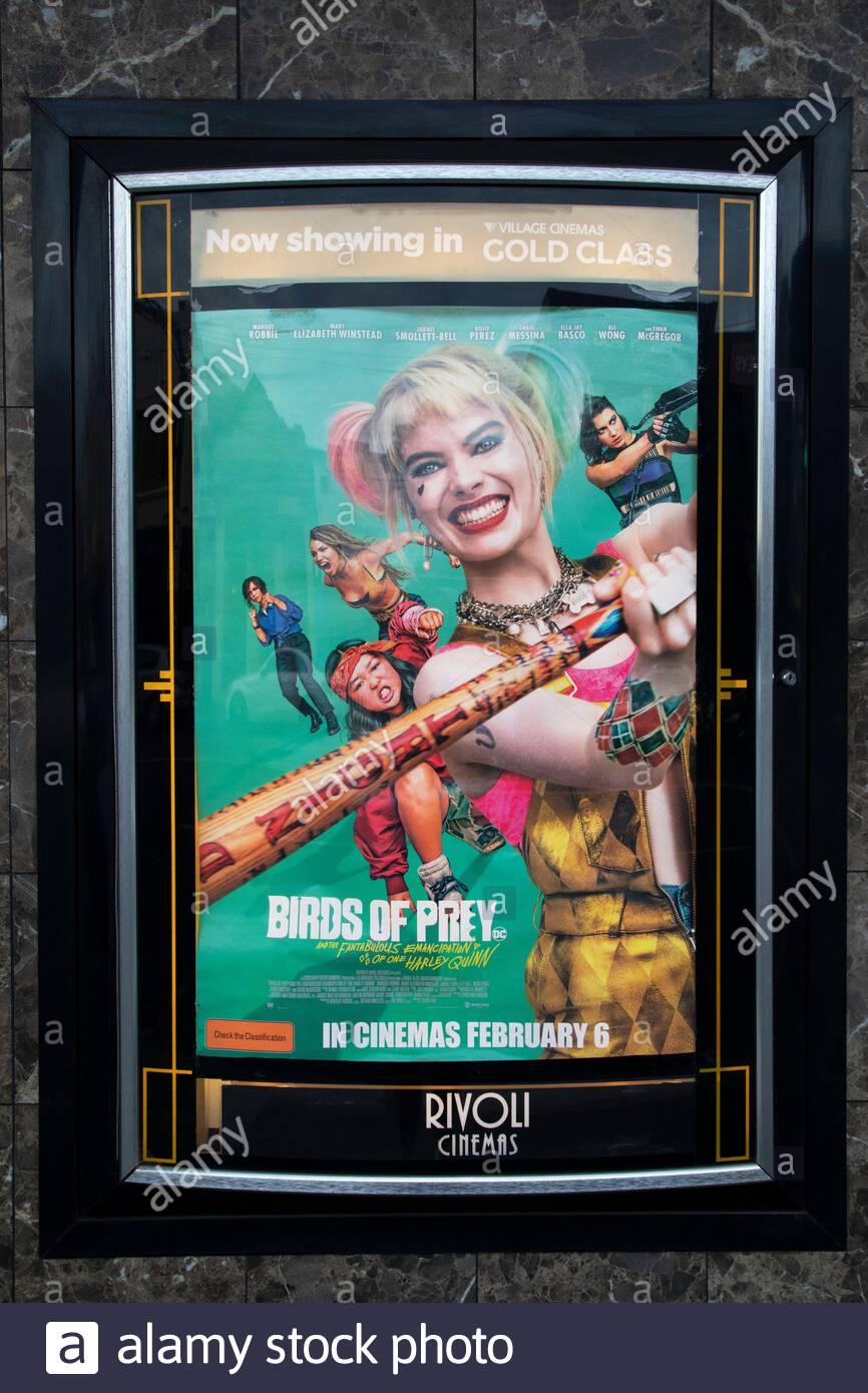 Birds Of Prey Film Poster With Margot Robbie At Rivoli Cinemas Stock Photo Alamy