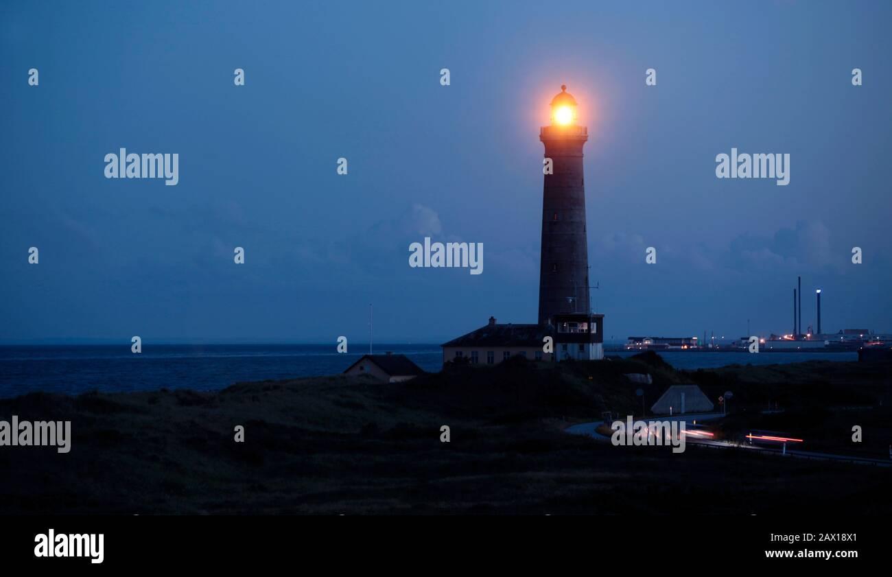 Skagen, Denmark 2012 Skagen lighthouse in northern Denmark.  Photo Jeppe Gustafsson Stock Photo