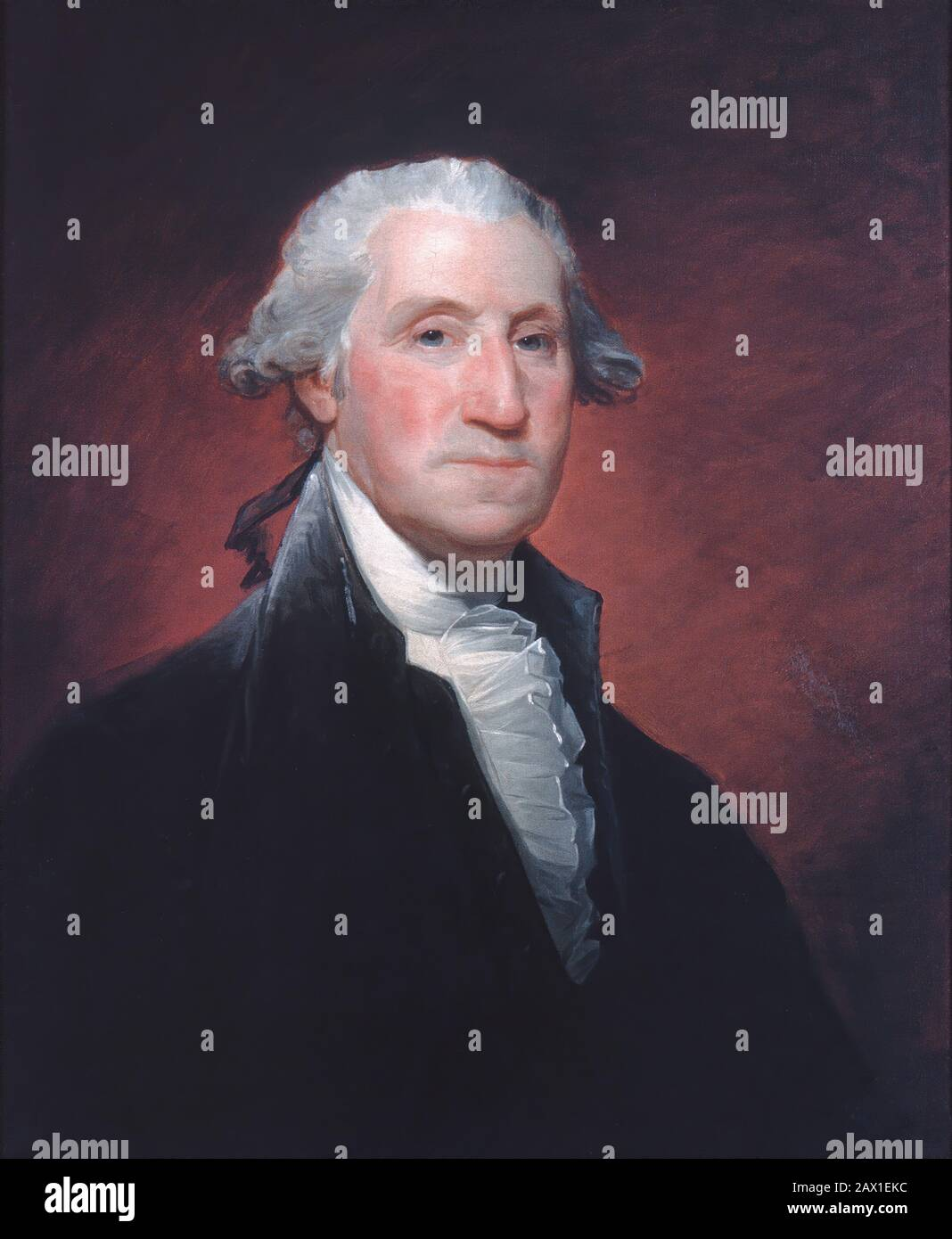 George Washington, ca. 1798-1800. Stock Photo
