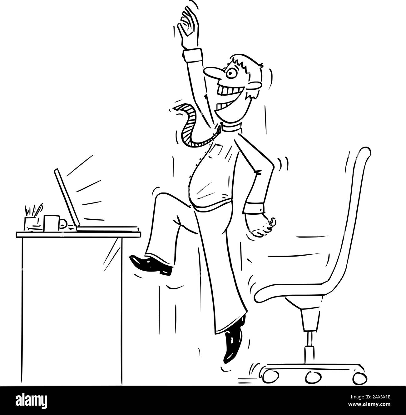 vector funny comic cartoon drawing of businessman office worker or man working on computer and jumping and celebrating success stock vector image art alamy https www alamy com vector funny comic cartoon drawing of businessmanoffice worker or man working on computer and jumping and celebrating success image343064330 html