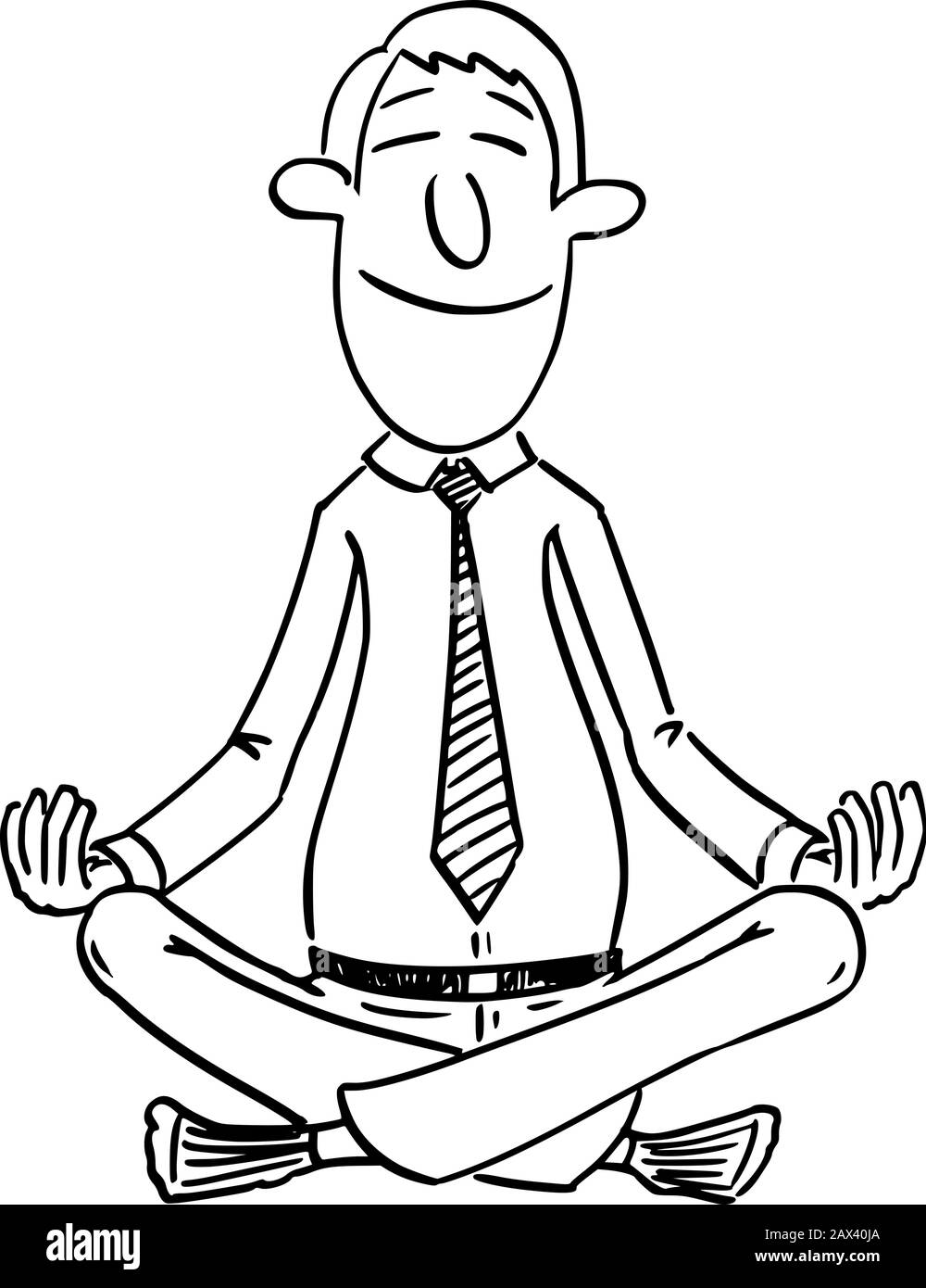 Man In Yoga Position Cartoon High Resolution Stock Photography And Images Alamy
