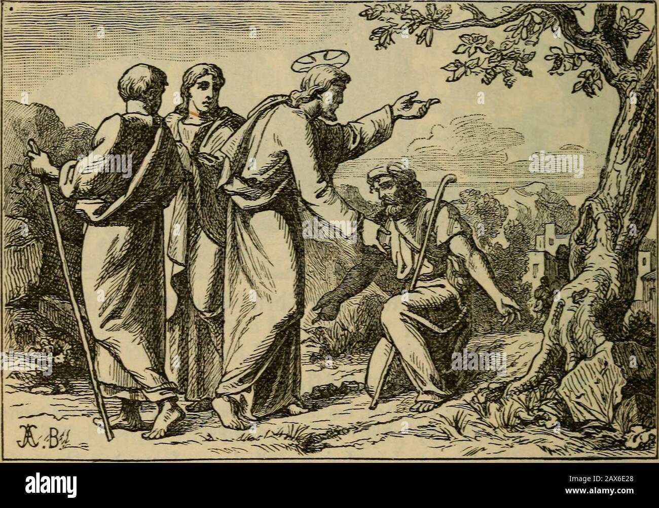 Biblische geschichte des Alten und Neuen Testamentes für katholische volksschulen . d) für ba§ 23üH ftirbt, aU mnn — 204 - ba§ ganje 95oIf 311 ©runbe geljt. Sie bej(^Ioffcn alfo 3^fumjii tobten, öcfug tnu^te bicje§. Sariim lüanbelte 6r nicf)t me!^röflentUdö unter htn Suben, jonbcrn 309 ficf) nact) ©pljtem jurüdf.* 3eiii^, ber t)on ben Silben beneidet uiib gel^aßt nnirbe, ^at fein ^or^bilb im ägi]pti d)en 3oiep[); biefer mürbe öon (rinnT 5^rübern beneibet unbge()a§t (a. 2^. 9to. IG nnb 9io. 17). (Sin tneiteveä ^orbilb ift ©(iaö, ber9e[)a(3t unb üerfolgt mnrbe, unb n3elrf)em mon nac^ bem lieben Stock Photo