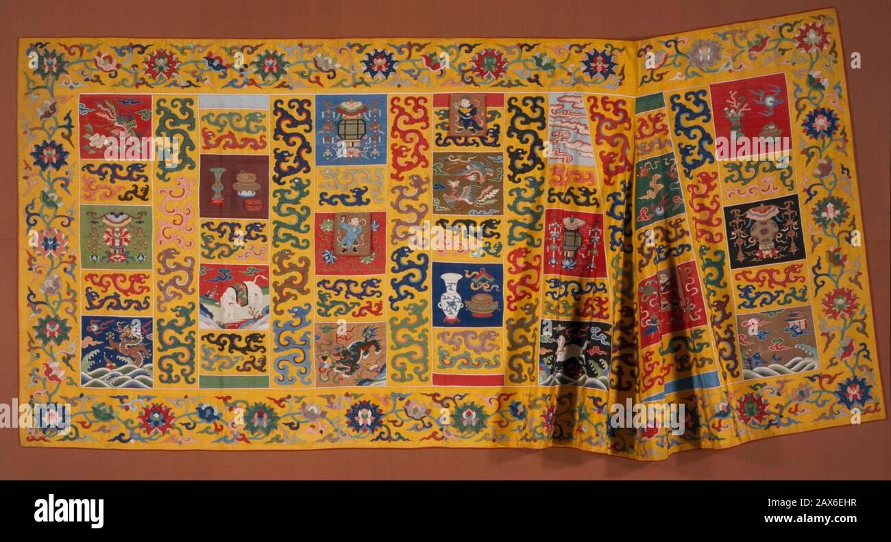 JAS Chinese Painting Fabric Covered Box Set E2