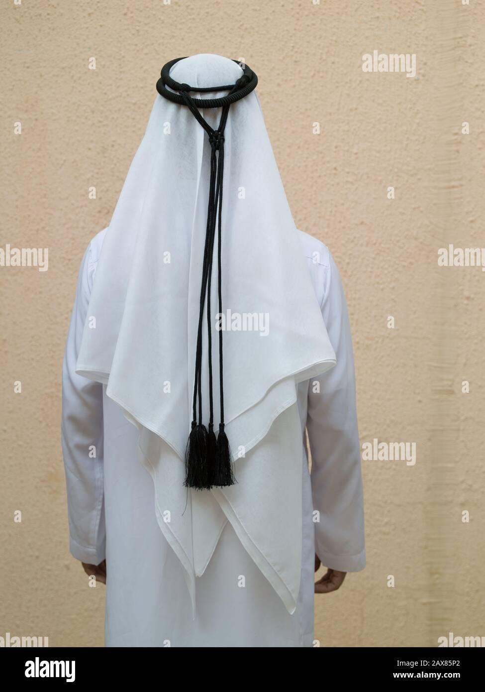 Arab male in Kandura. Dubai, UAE. Stock Photo