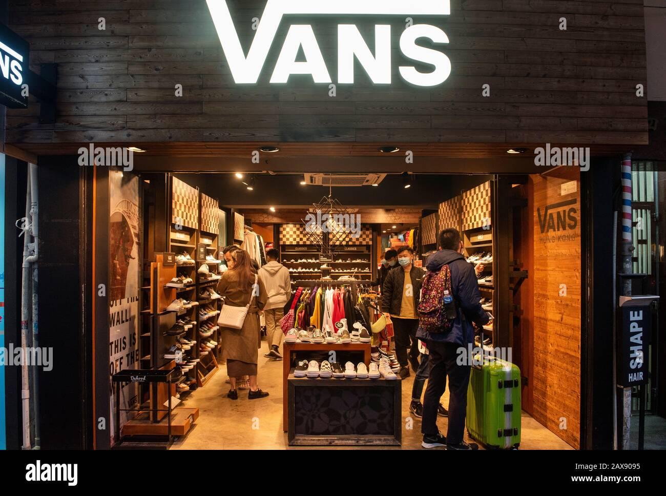skateboarding shoes Vans store seen