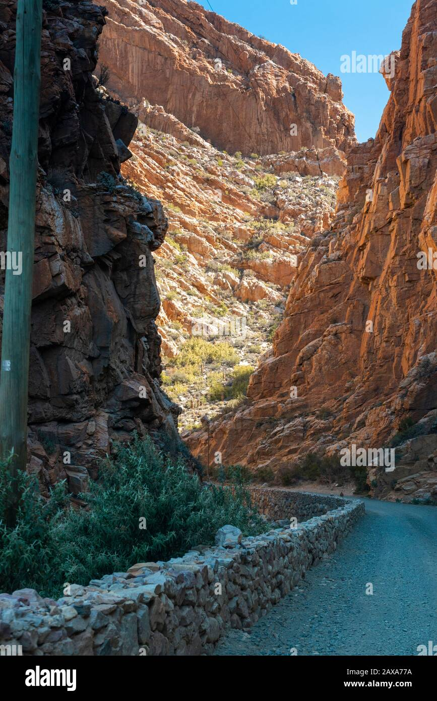 Foothills of the Swartberg Mountain Range, Western Cape Province, South Africa Stock Photo