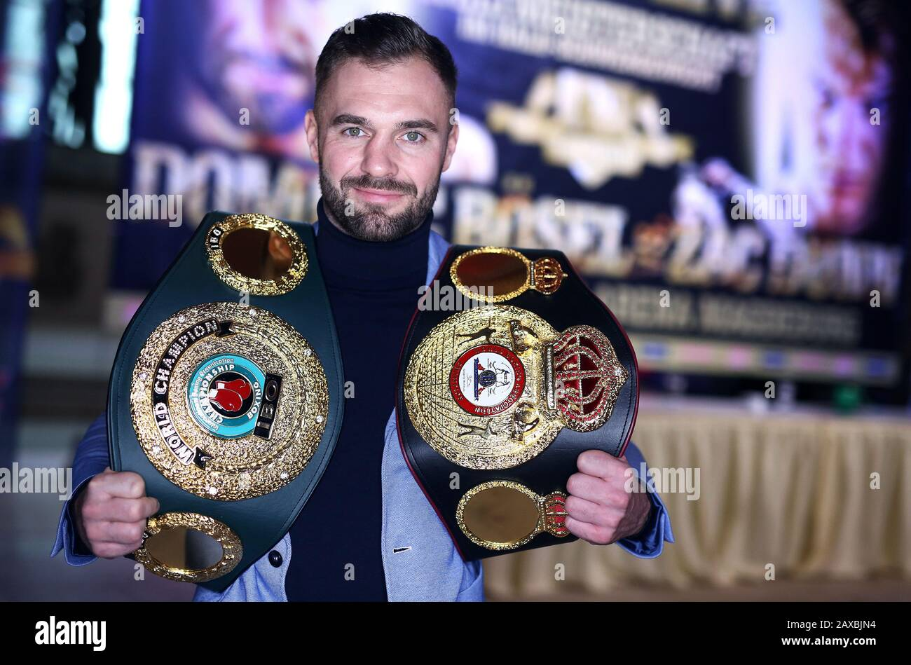 Magdeburg Germany 11th Feb 2020 Boxing Light Heavyweight World Championship Press Conference Dominic Bosel Is On