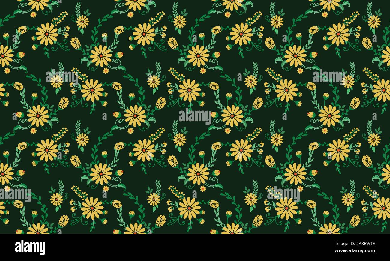 The Beautiful Of Spring Floral Wallpaper Decoration With Leaf And