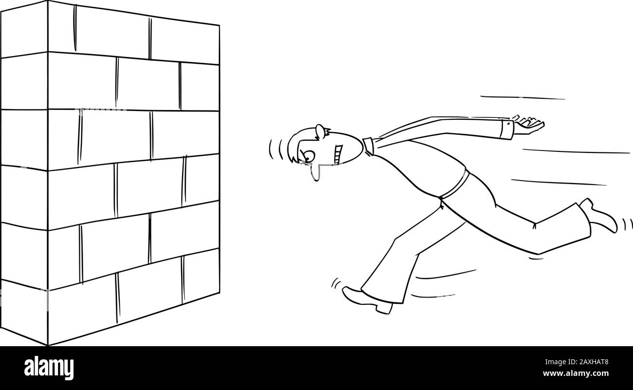vector funny comic cartoon drawing of headstrong man or businessman running wall head first business concept of confidence motivation and success stock vector image art alamy https www alamy com vector funny comic cartoon drawing of headstrong man or businessman running wall head first business concept of confidencemotivation and success image343359752 html
