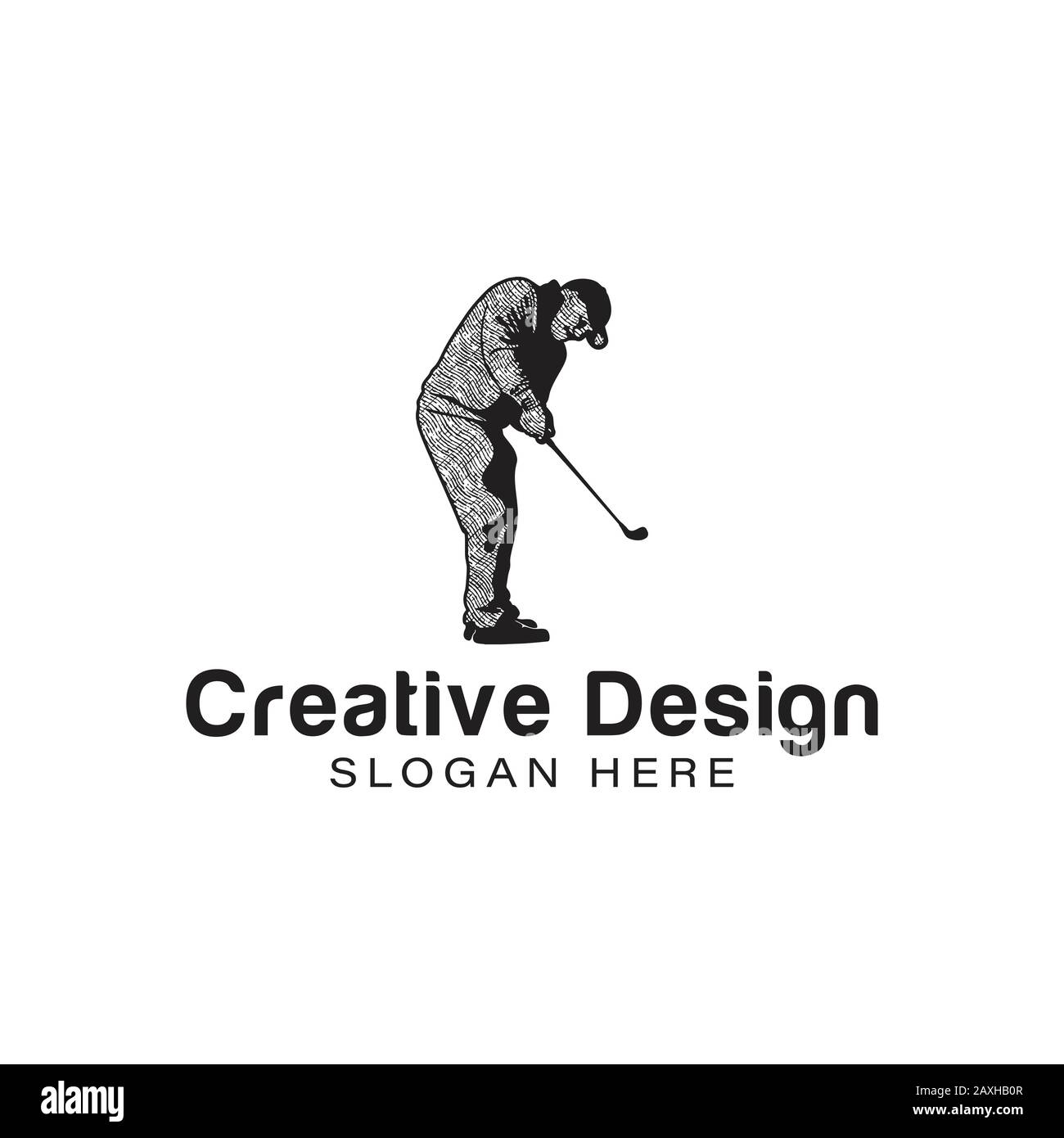 Old Man Playing Golf Logo Ideas Inspiration Logo Design Template Vector Illustration Isolated On White Background Stock Vector Image Art Alamy