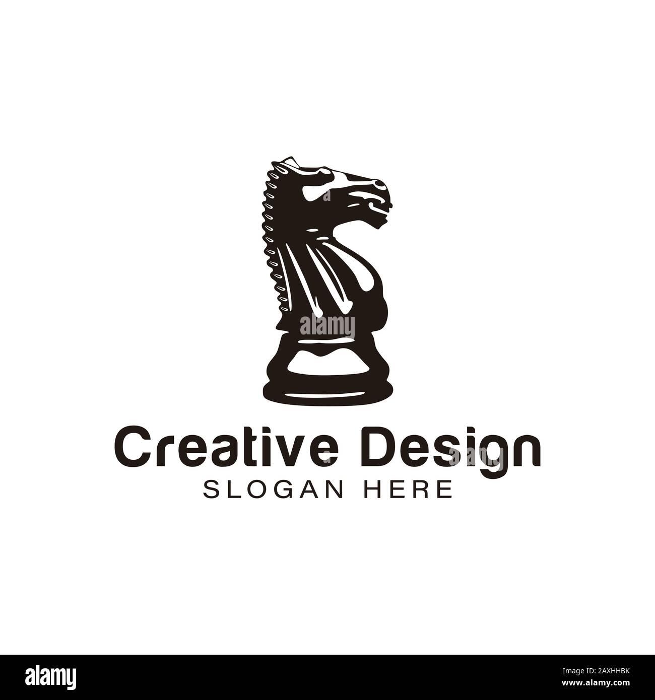 Horse Steer Chess Board Logo Ideas Inspiration Logo Design Template Vector Illustration Isolated On White Background Stock Vector Image Art Alamy