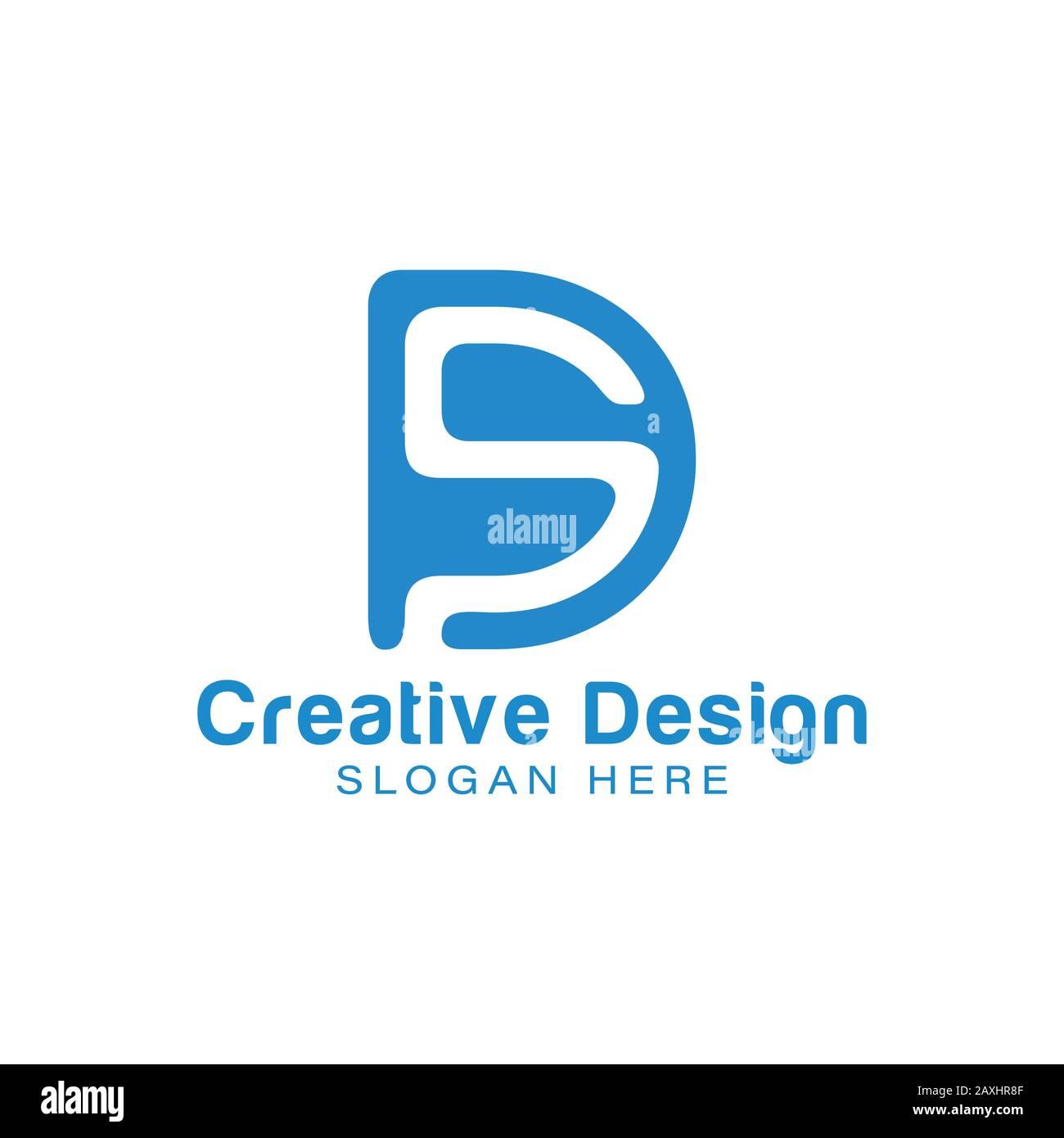 Initial Letter D S Negative Space Logo Ideas Inspiration Logo