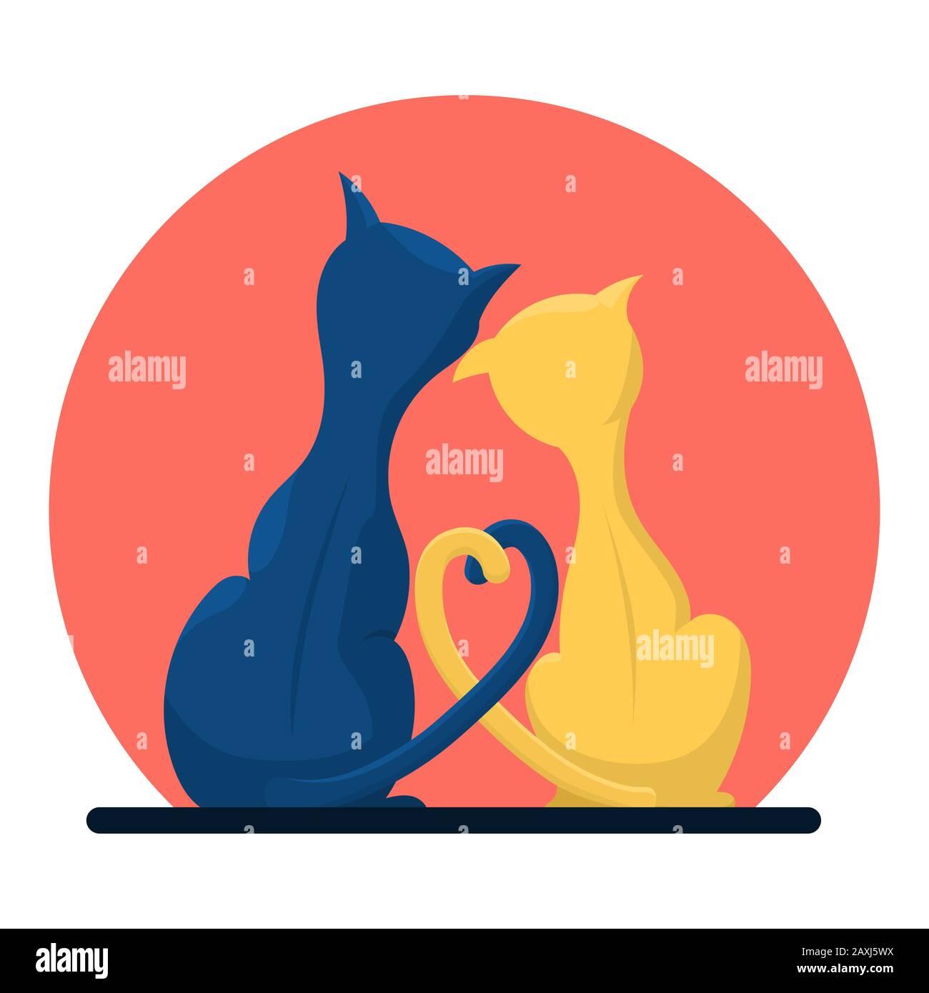 "Wooden Cat Ornament Pair of loving cats heart 4/"" Handmade Acacia Wood"