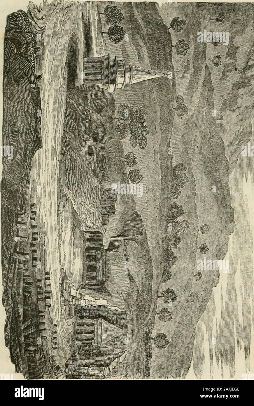 Travels in Palestine, through the countries of Bashan and Cilead, east of the River Jordan; including a visit to the cities of Geraza and Gamala, in the Decapolis . period of our visit,perfectly dry. This confined space is nearlycovered witli the grave-stones of Jews, with in-scriptions in Hebrew characters ; as it is esteem-ed among them one of the greatest blessings toend their days at Jerusalem, and to obtain aburial in the valley of Jehoshaphat. For thispurpose, the more dev^out among them comefrom distant parts of the world, and it is certainthat immense prices are paid by them for thepri Stock Photo