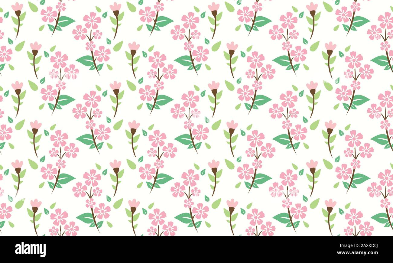 The Unique Spring Flower Pattern Background With Leaf And Floral