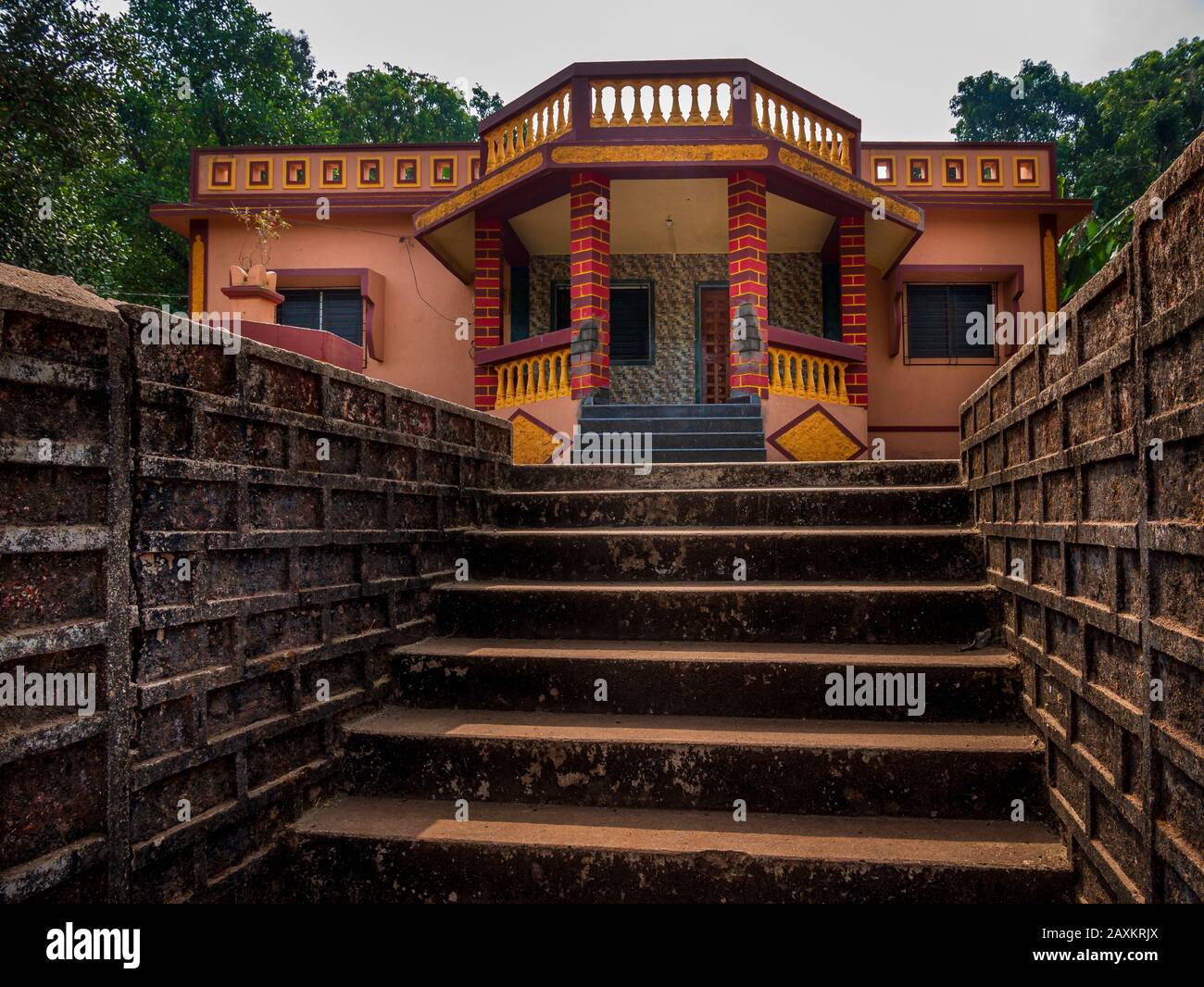 Indian House With Traditional Roof Design At Coastal Side Of Maharashtra India Stock Photo Alamy