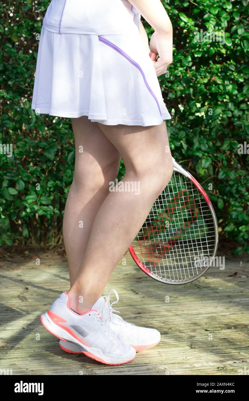 Tennis Clothes Sport Sportsperson Concept Skirt Blue Tennis Skirt Ladies Tennis Outfit Playing Play Tournament Concept Fitness Womens Fit Stock Photo Alamy