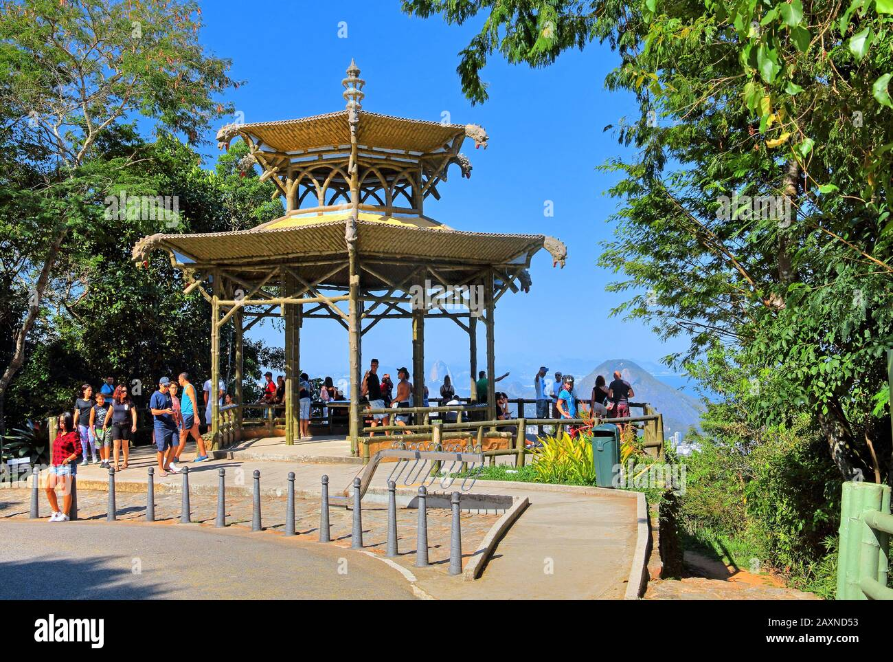 Chinese pavilion with lookout Vista Chinesa in the Tijuca national park, Rio de Janeiro, Brazil Stock Photo