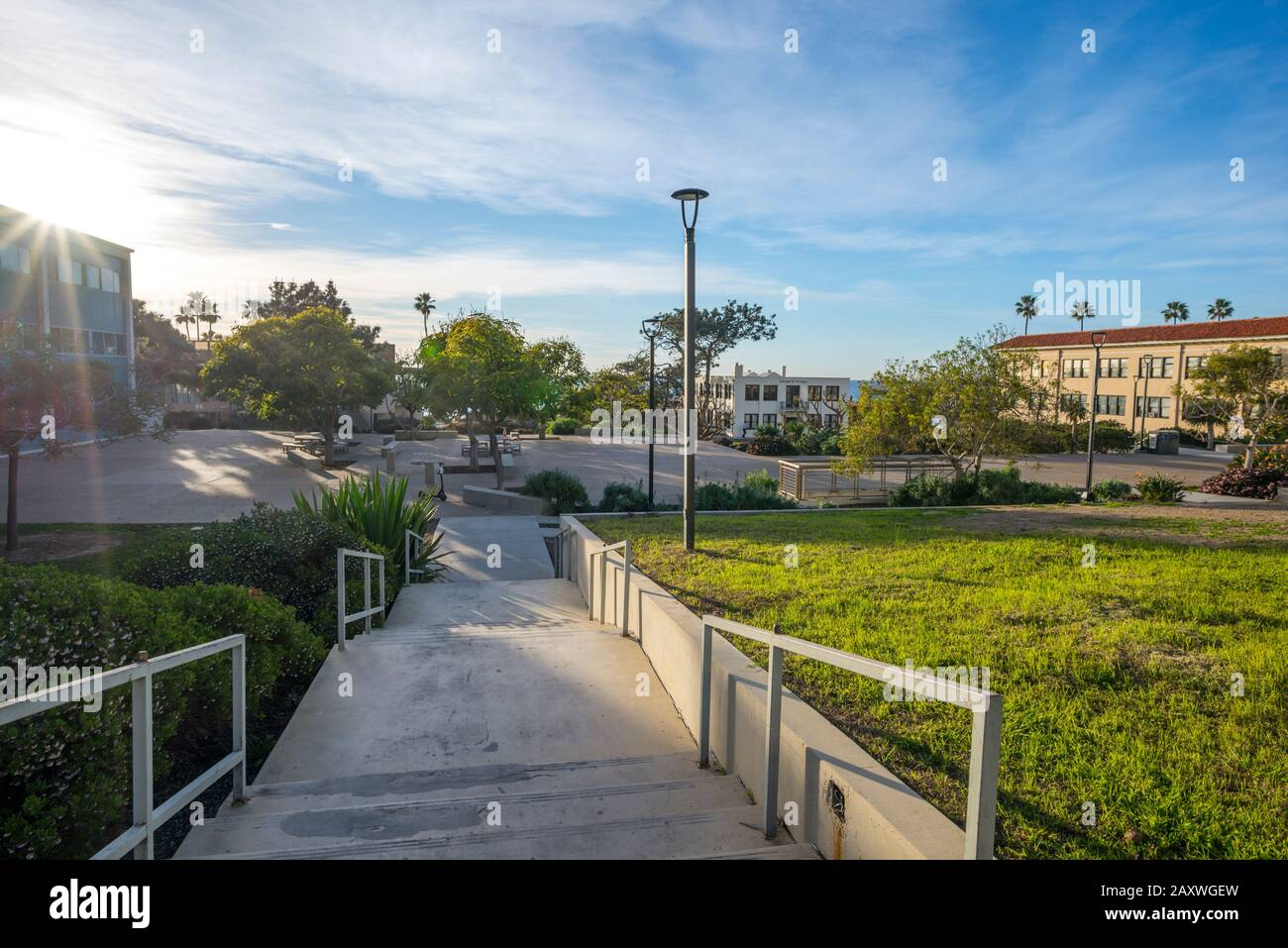 Buildings on the grounds of the Scripps Institute Of Oceanography. La Jolla, CA, USA. Stock Photo