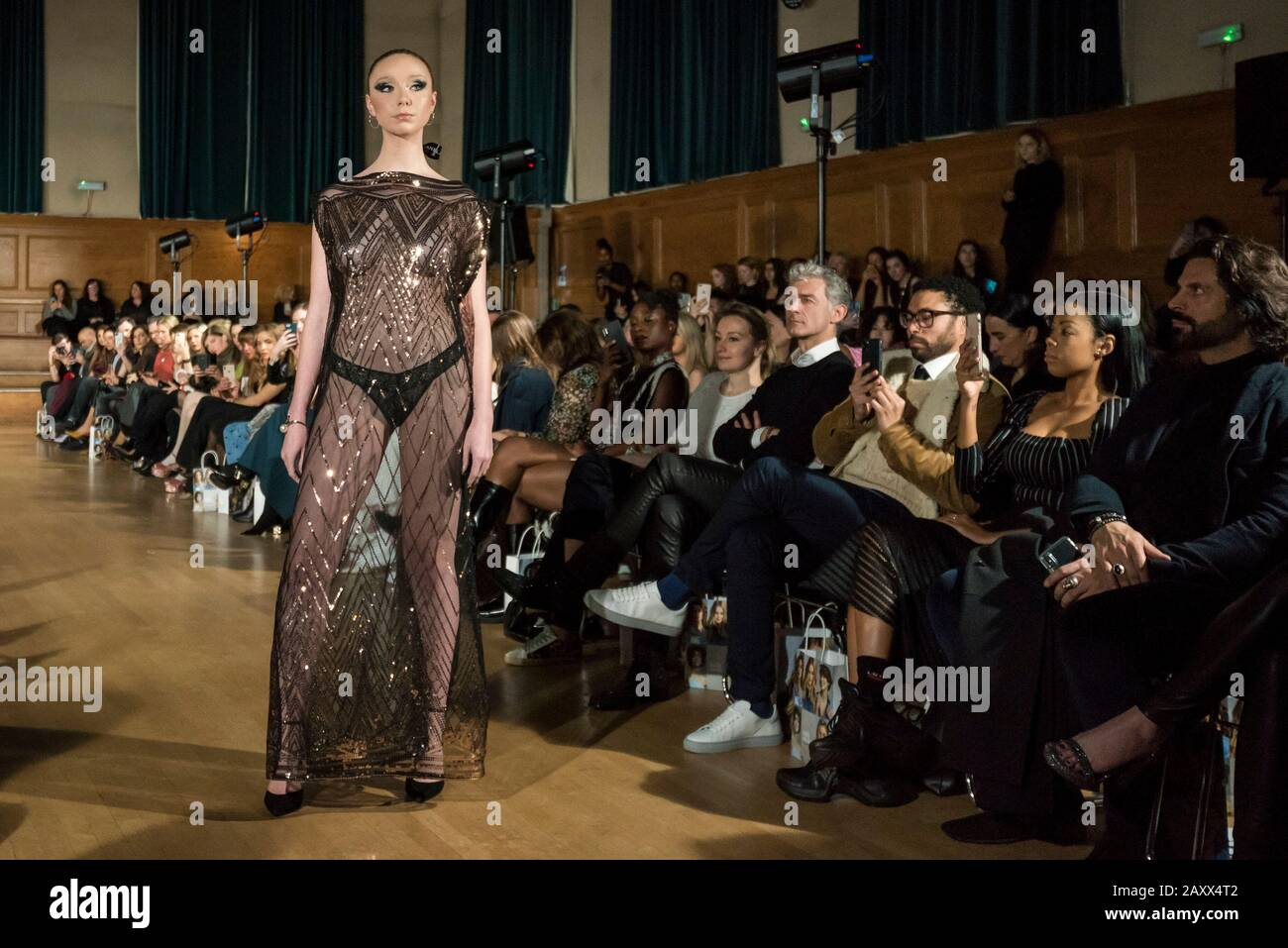 London Uk 13 February 2020 A Model Wears A Creation By Chanel Joan Elkayam At Her Aw20 Showcase At Cecil Sharp House In Camden During London Fashion Week Aw20 Chanel Joan Elkayam