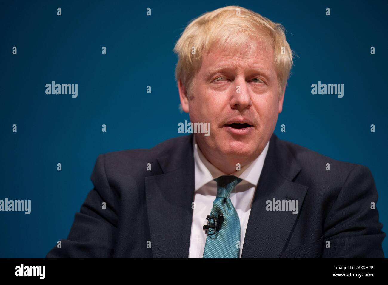 Perth, UK. 5 July 2019.  PICTURED: Boris Johnson MP Conservative leadership contenders Boris Johnson and Jeremy Hunt are to face Scottish party members at a hustings event in Perth.  The hustings in Perth is the latest in a series of events around the UK which see the two candidates make a speech to local members before taking questions from a host and the audience.  Party members should receive their ballots in the coming days, with the winner to be announced on 23 July. Stock Photo