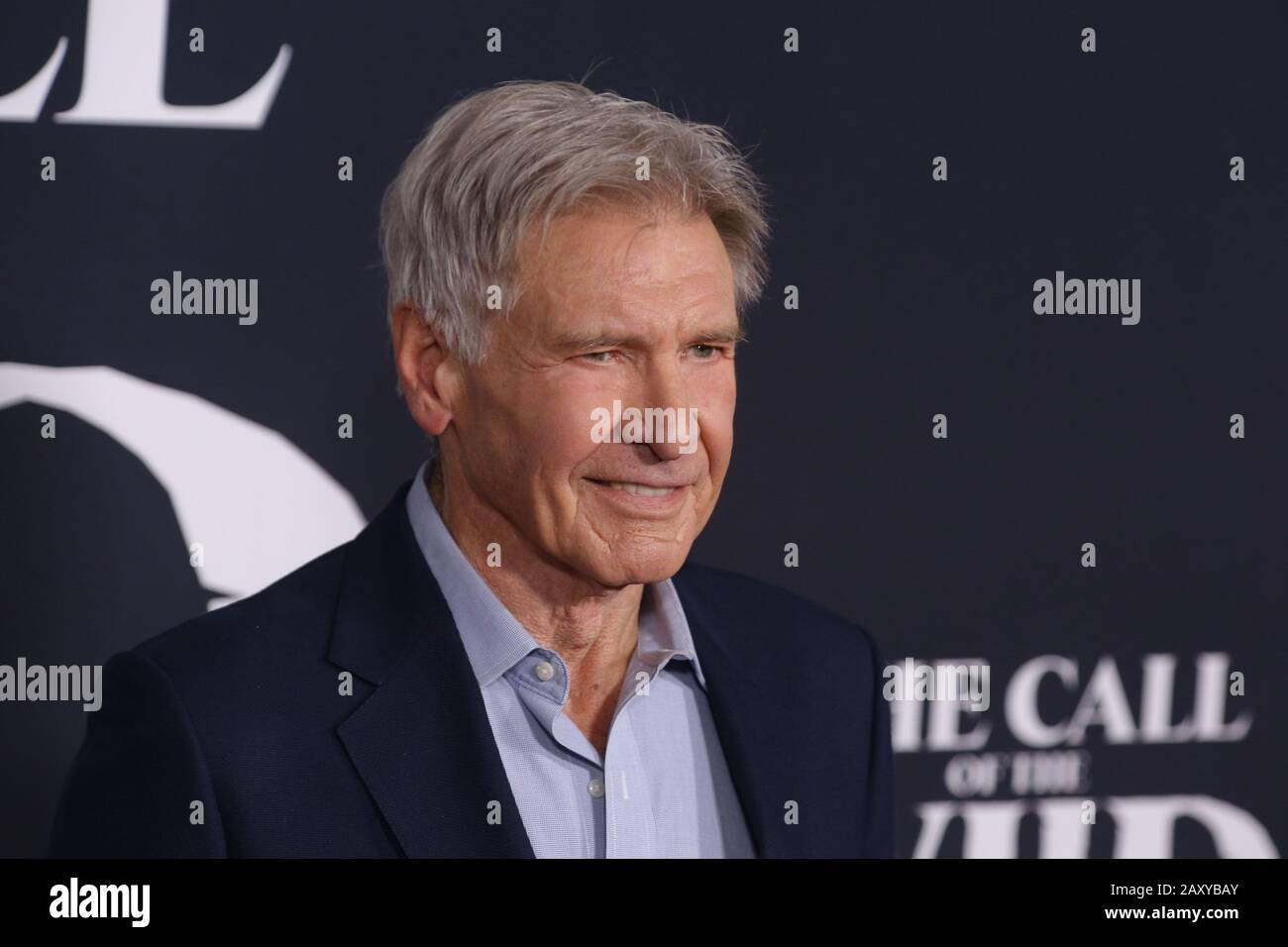 "Los Angeles, USA. 13th Feb, 2020. Harrison Ford at ""The Call Of The Wild"" World Premiere held at El Capitan Theatre in Los Angeles, CA, February 13, 2020. Photo Credit: Joseph Martinez/PictureLux Credit: PictureLux/The Hollywood Archive/Alamy Live News Stock Photo"