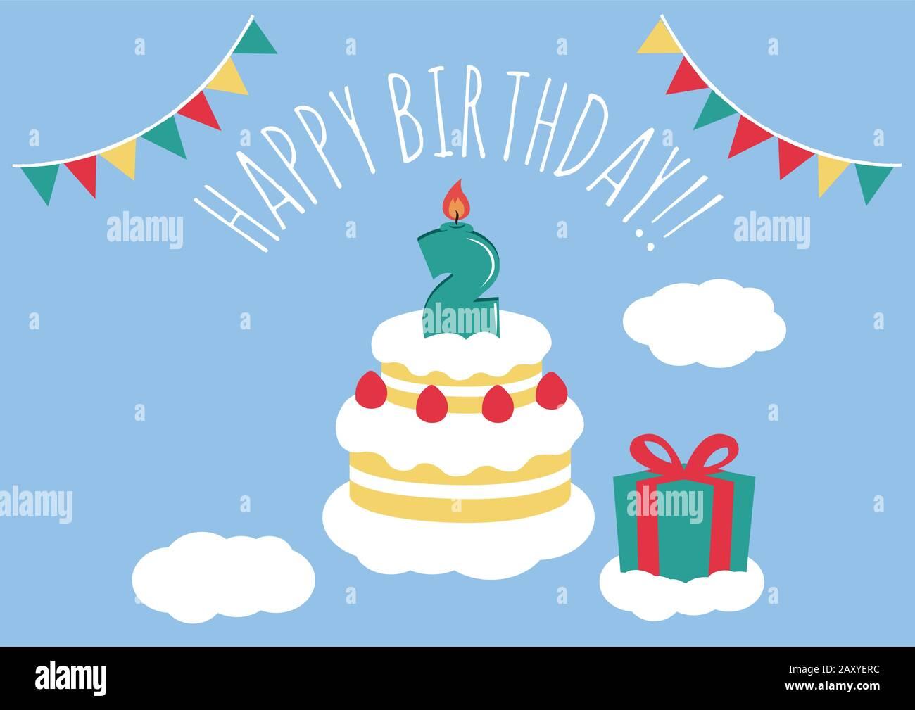 Pleasing Birthday Card Invitation Greeting Birthday Cake Illustratio 2 Funny Birthday Cards Online Hendilapandamsfinfo
