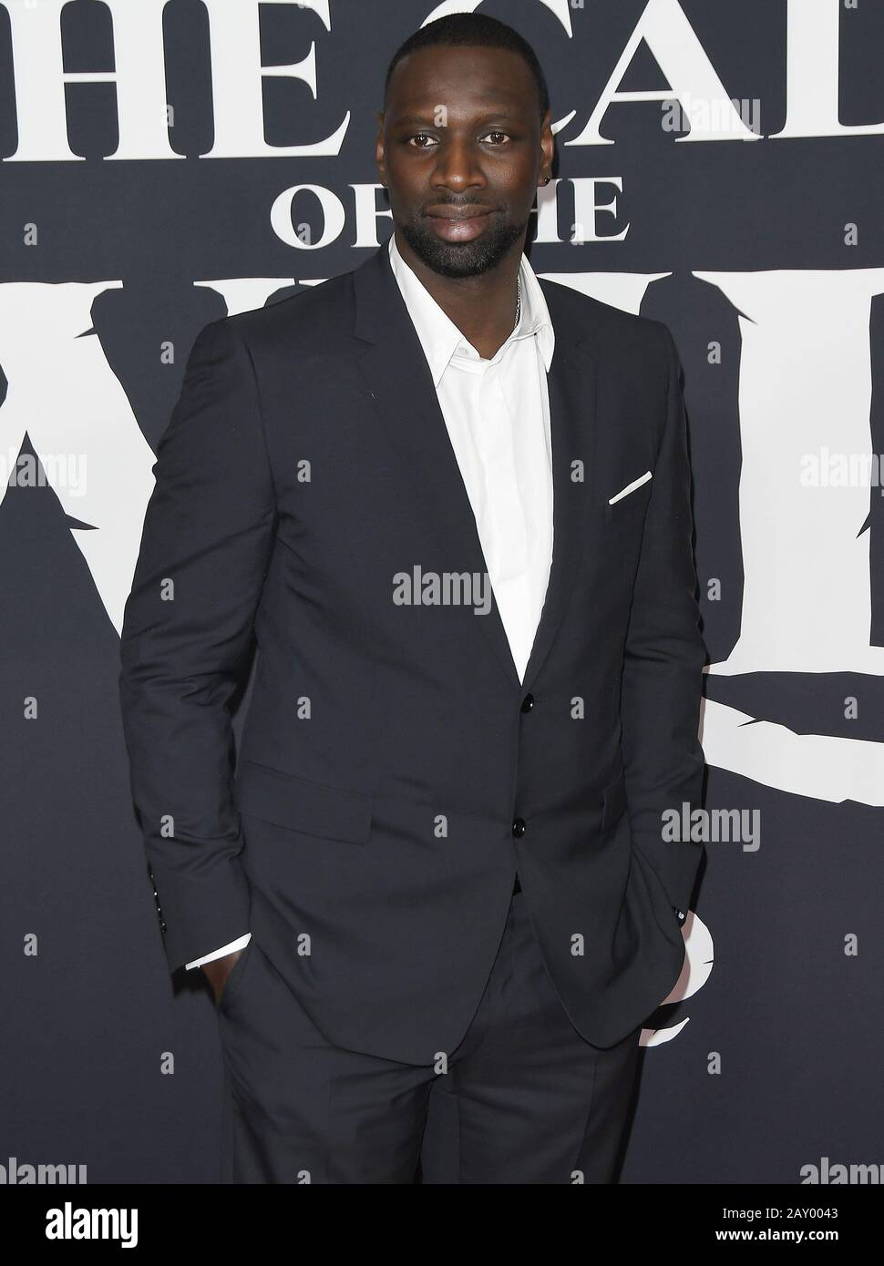 Los Angeles, USA. 13th Feb, 2020. Omar Sy arrives at the 20th Century Studios' THE CALL OF THE WILD Los Angeles Premiere held at the El Capitan Theatre in Hollywood, CA on Thursday, ?February 13, 2020. (Photo By Sthanlee B. Mirador/Sipa USA) Credit: Sipa USA/Alamy Live News Stock Photo