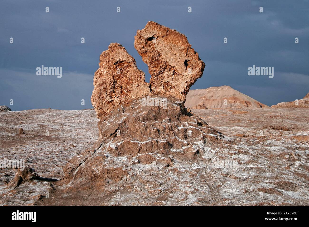 Valle de la Luna, Tal des Mondes, Chile Stock Photo