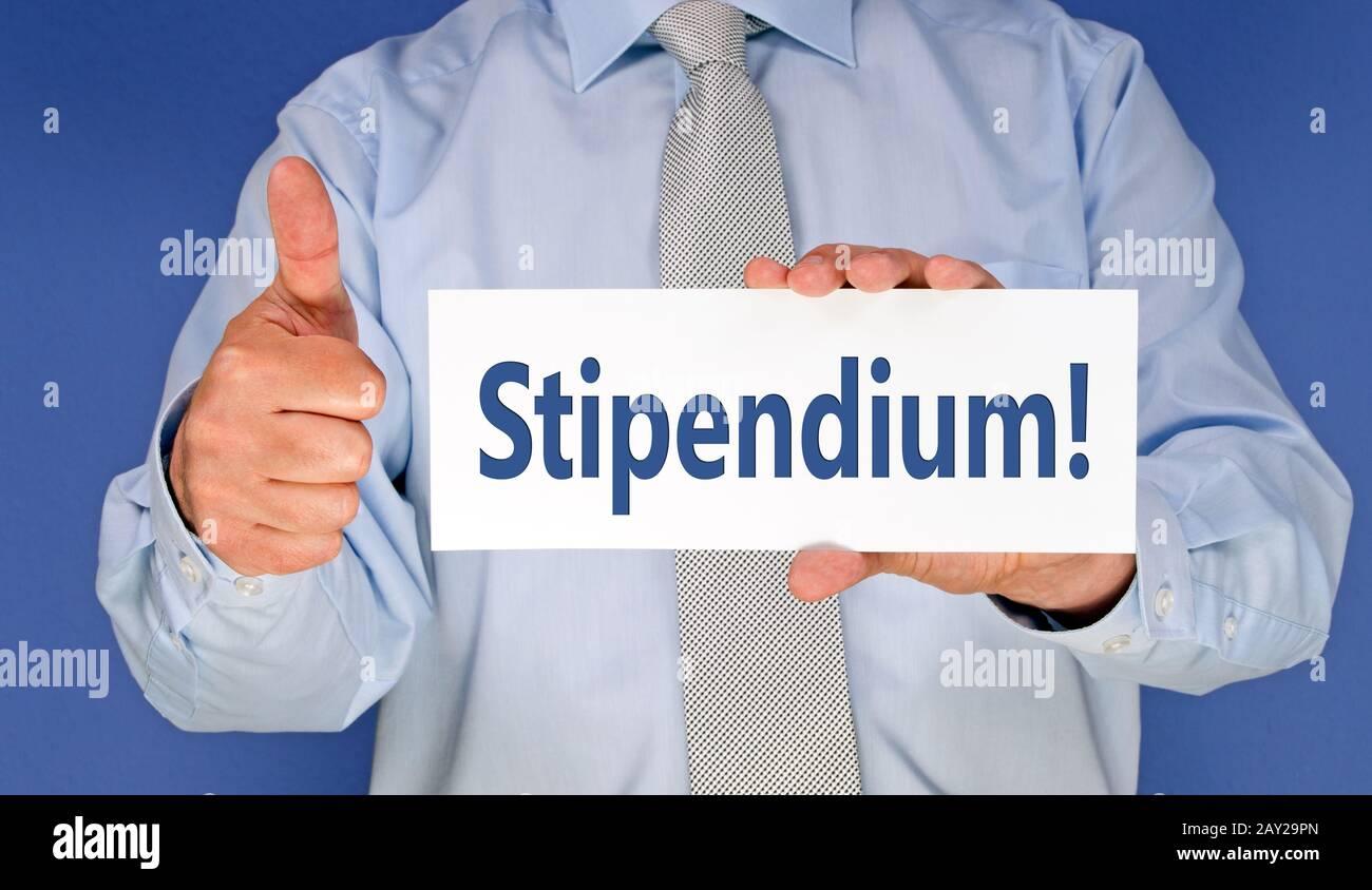 Stipendium! Stock Photo