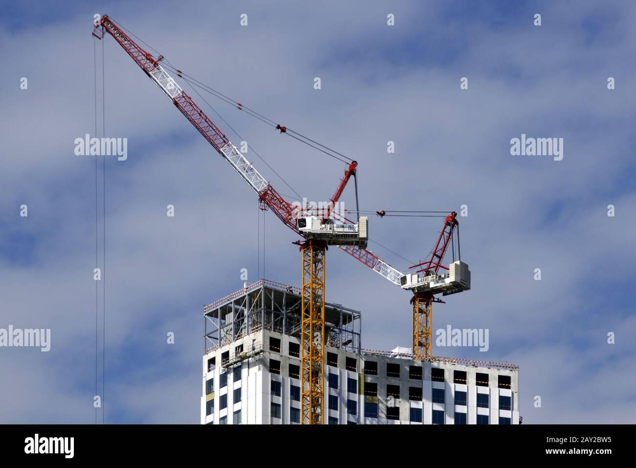 Maastoren-building site in Rotterdam, Kop van Zuid Stock Photo