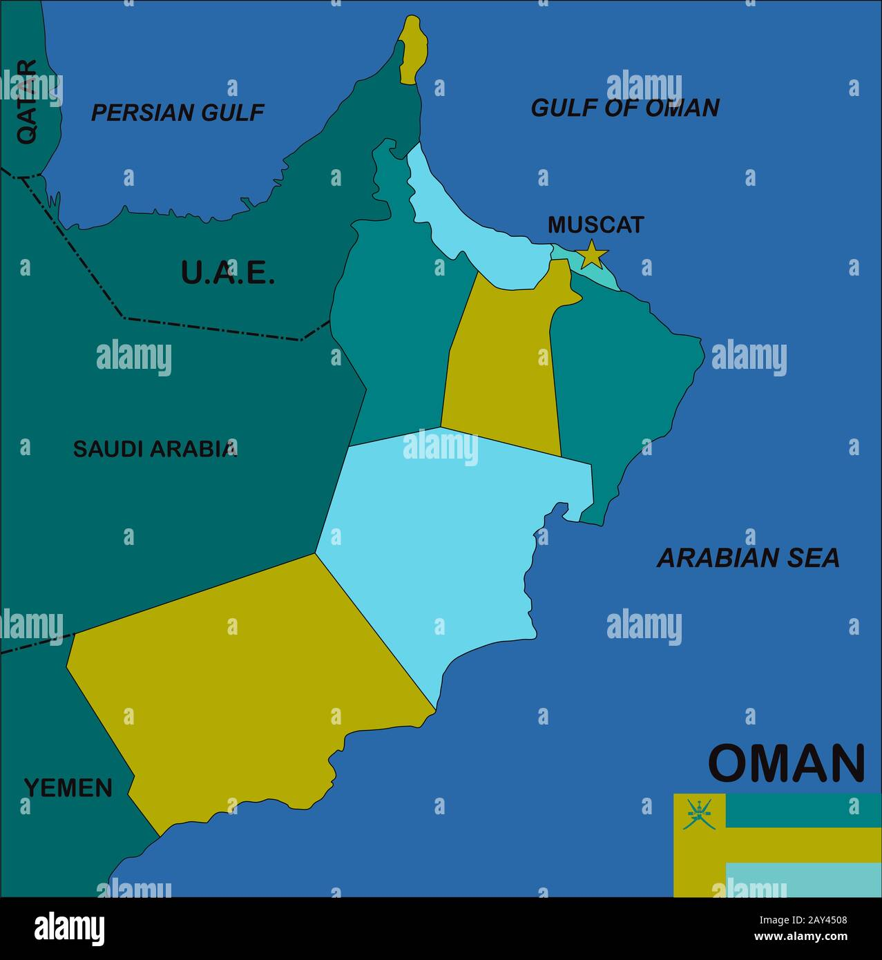 Oman Map High Resolution Stock Photography And Images Alamy
