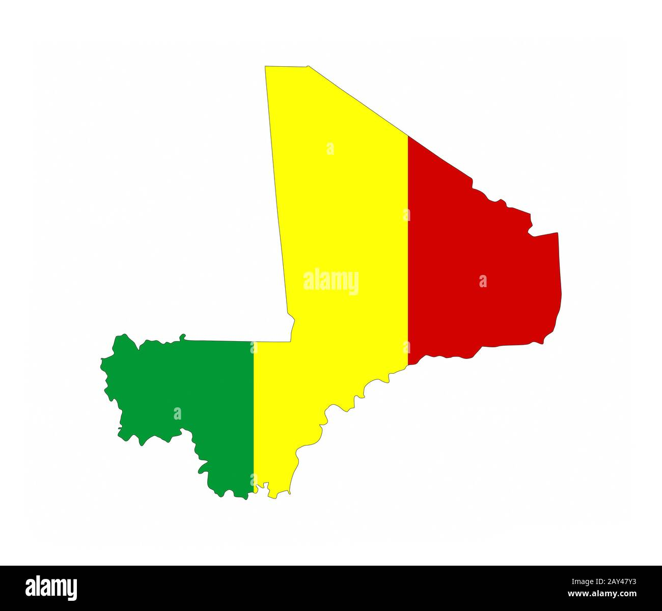 Mali Country Map High Resolution Stock Photography And Images Alamy