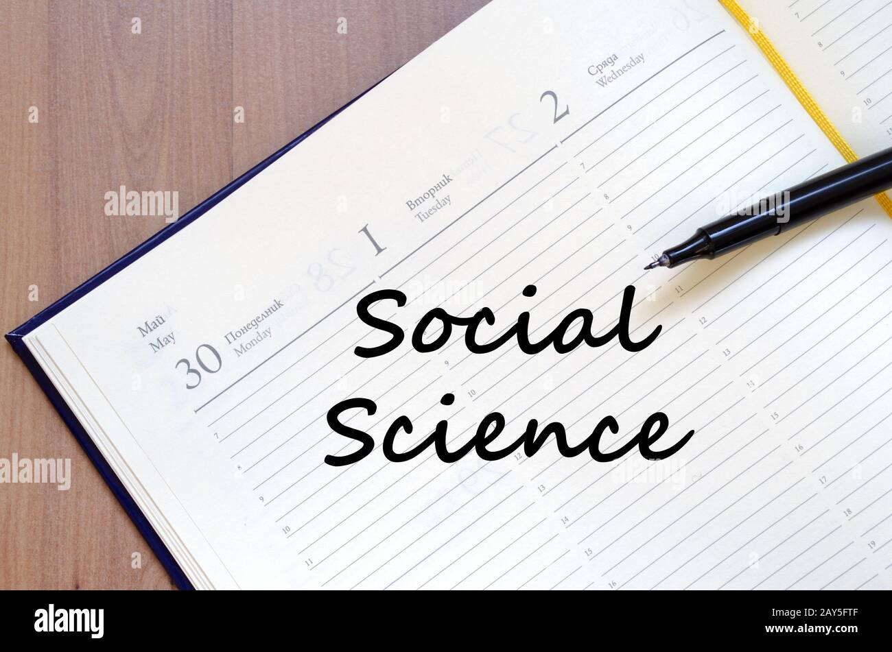 Social Science Write On Notebook Stock Photo Alamy